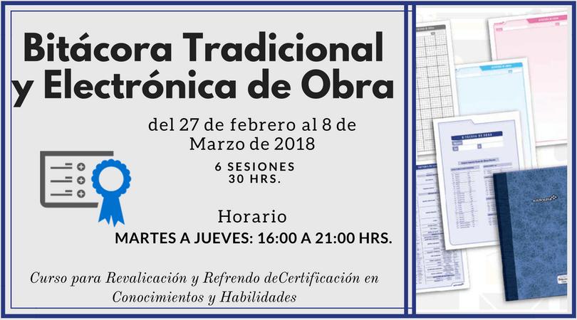Bitácora Tradicional y Electrónica de Obra @ CICEM