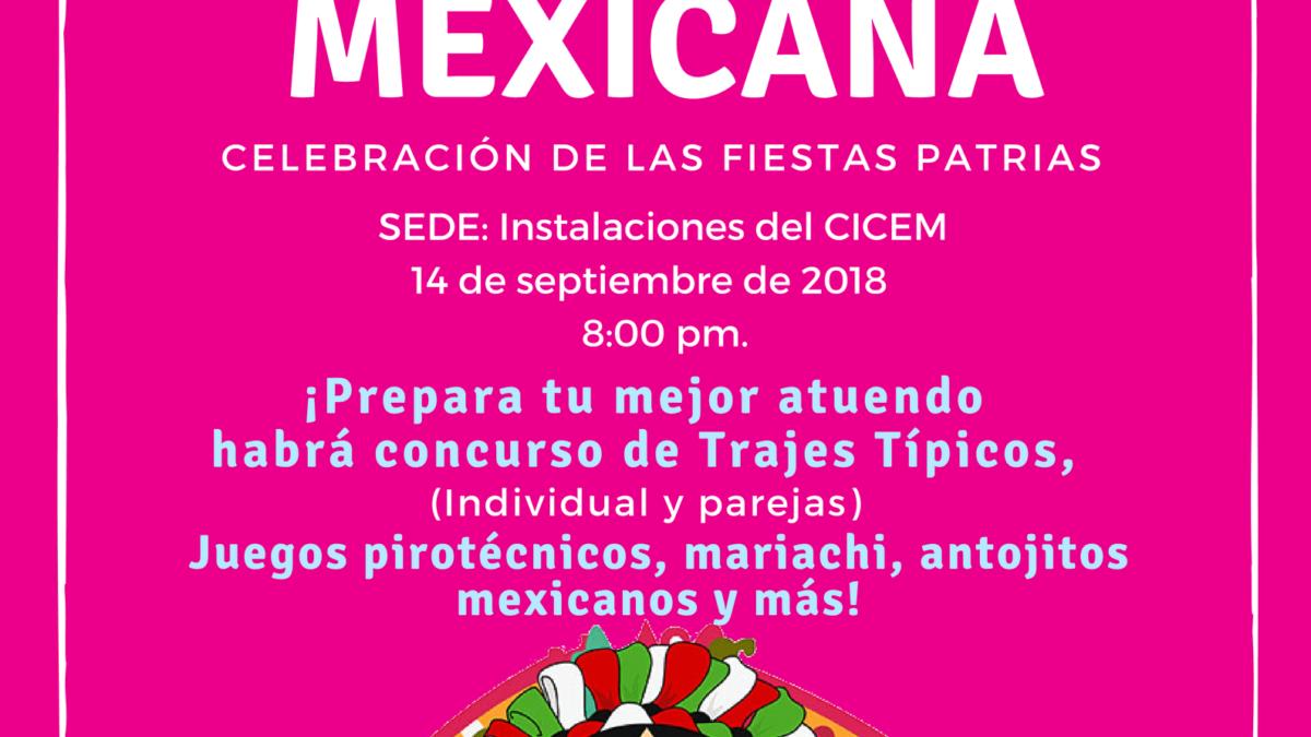Noche Mexicana Celebracion De Las Fiestas Patrias Colegio De