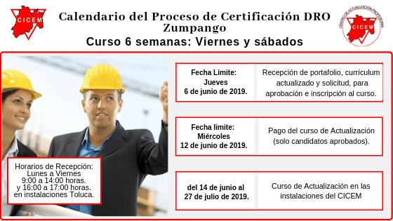 Zumpango Curso para Certificación DRO @ SEDE: Zumpango