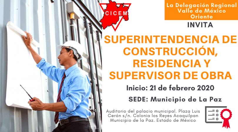 La Paz Residencia de Obra y Superintendencia de Construcción @ SEDE: Municipio La Paz