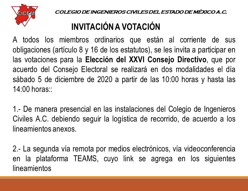 Lineamientos y Procedimientos para votación R1